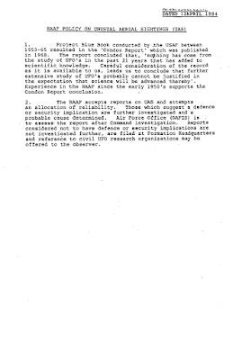 Current UAS Policy 4-12-1984