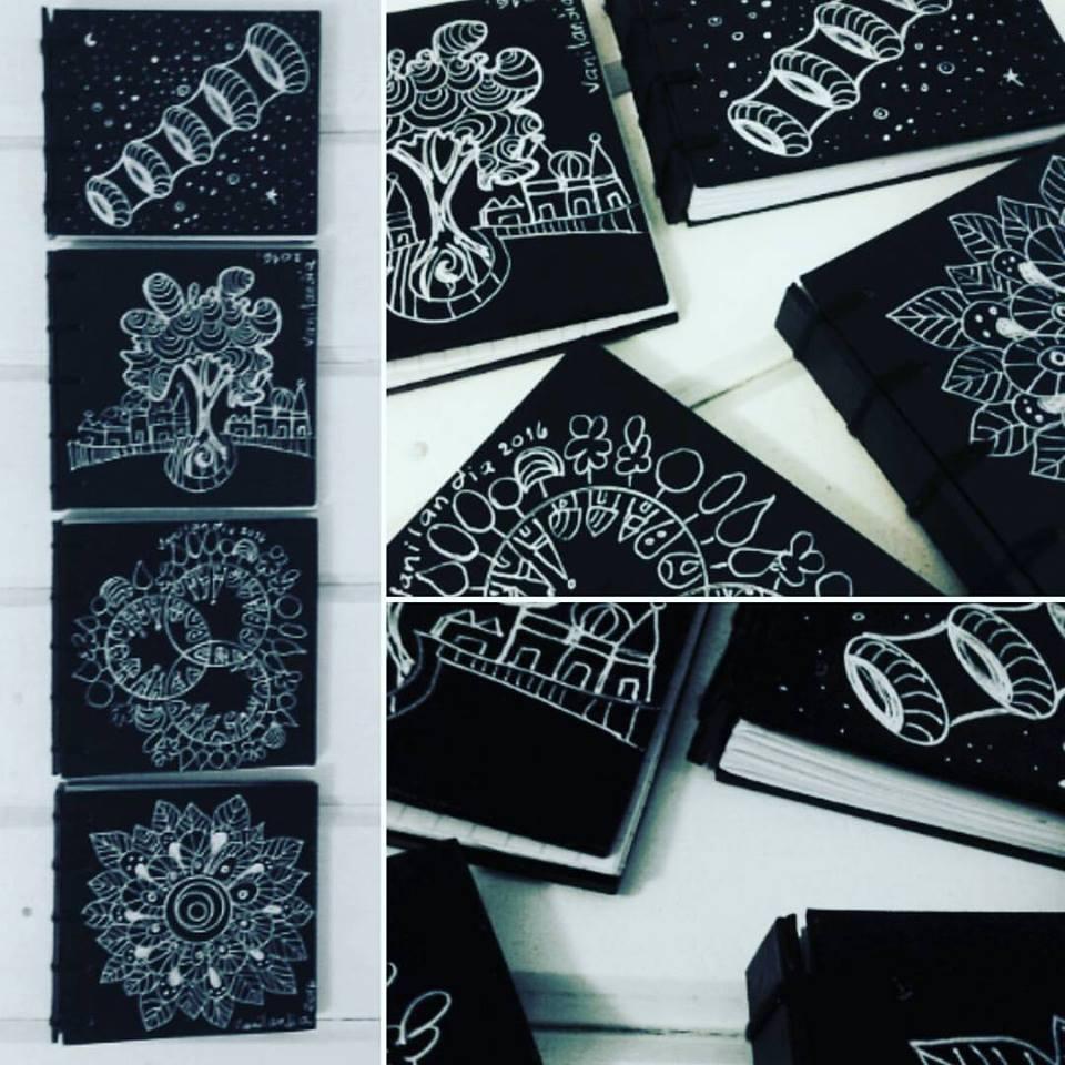 Vanilandia cuadernos de mano artesanales for 1 cuarto de cartulina