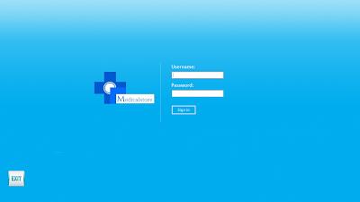 Medical store management system - Login form