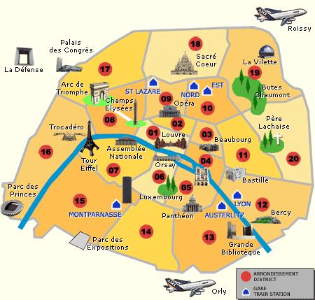 Resultado de imagem para arrondissements de paris br