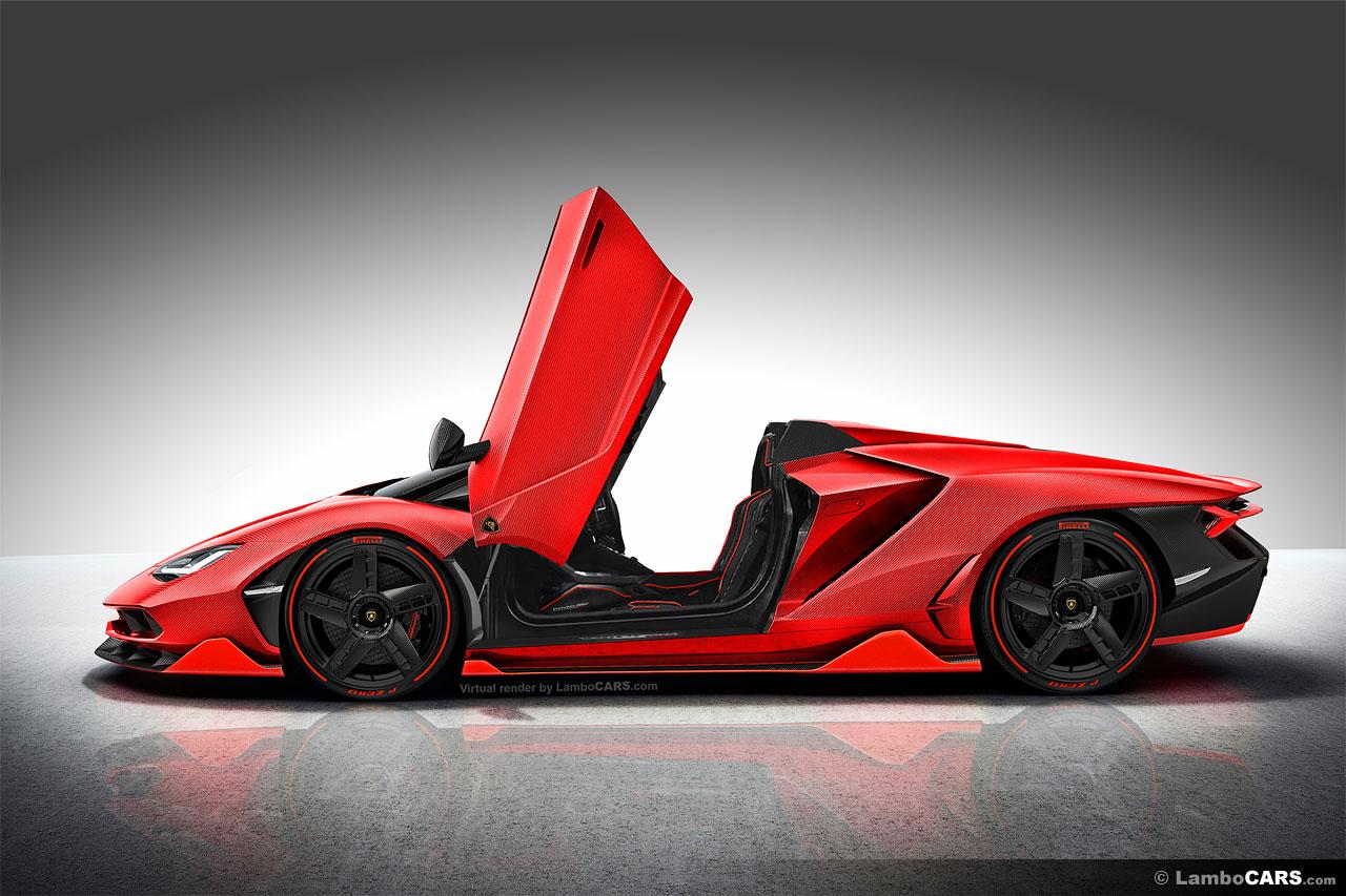 Lamborghini Centenario Roadster Lp770 4 Renderings Look