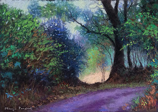 Soft pastel painting of a landscape from Coorg, Madikeri by Manju Panchal