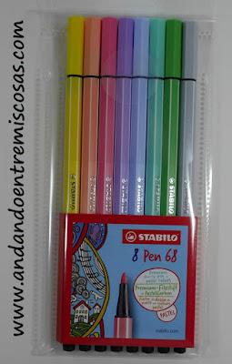 Pack de 8 rotuladores pastel acuarelables de Stabilo