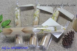 undangan bambu kertas milenium