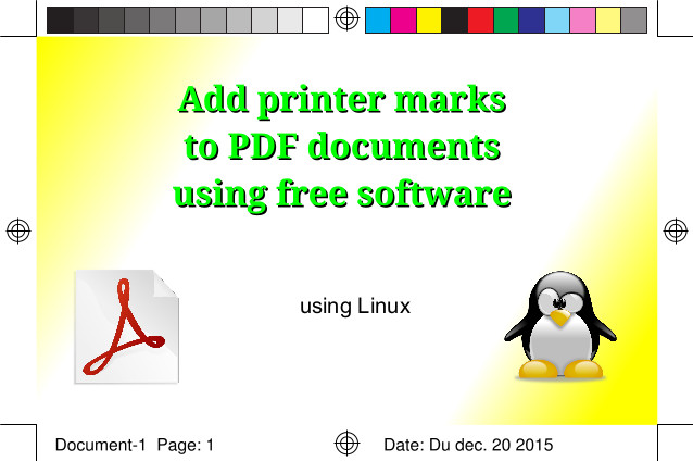 How to add printer marks and bleeds to PDF documents