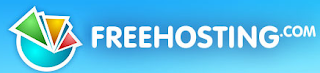 logo of Free Hosting.com with text in white color
