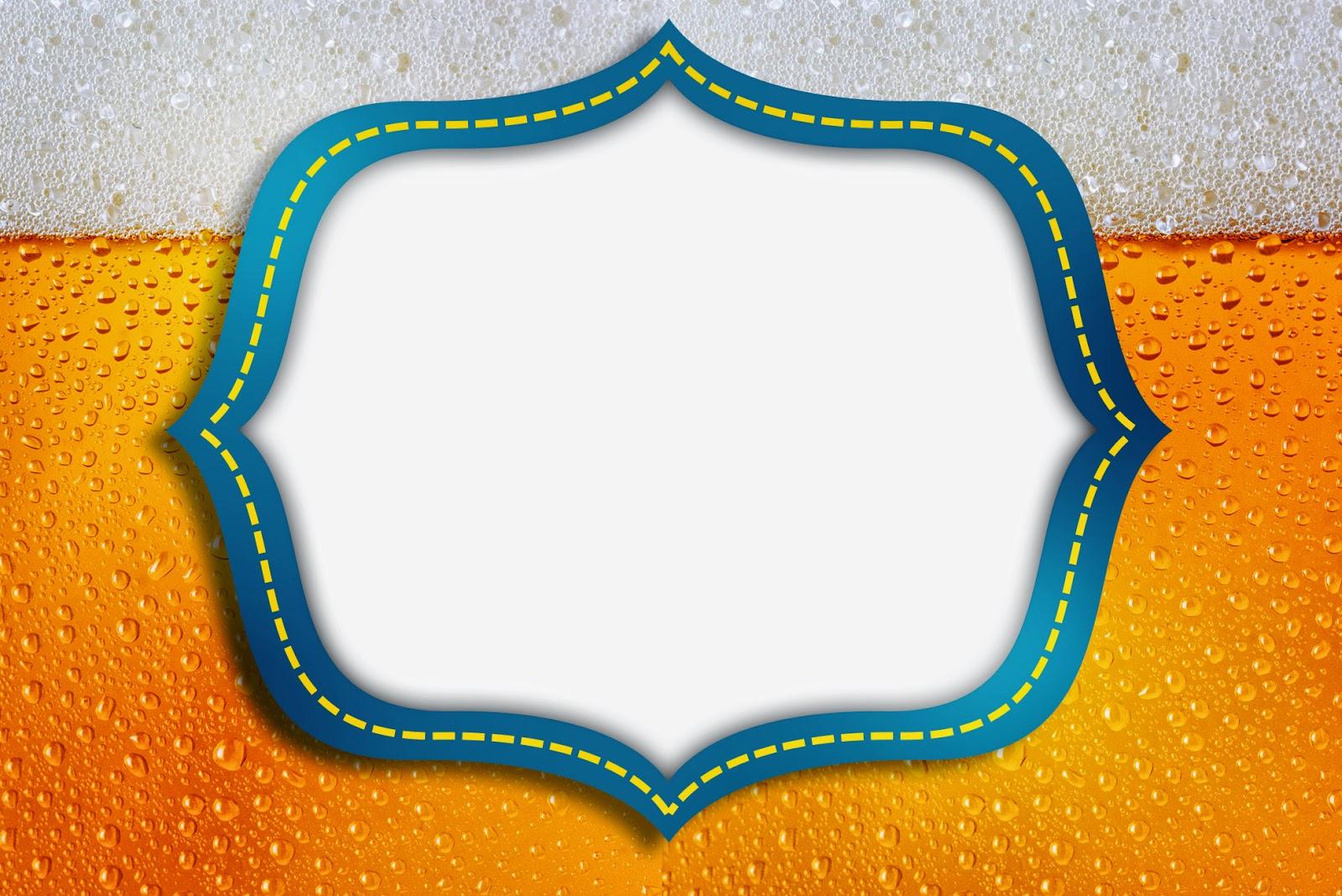 Para hacer invitaciones, tarjetas, marcos de fotos o etiquetas, para imprimir gratis de Fiesta de la Cerveza.