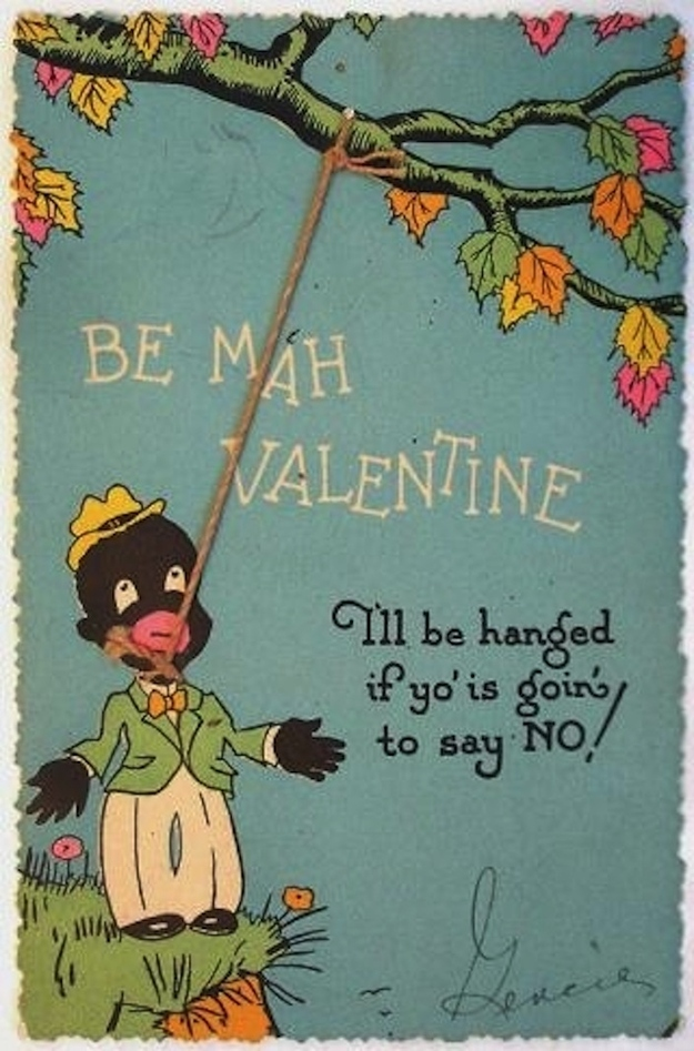 15 Unbelievably Racist Vintage Valentine S Day Cards From The Early