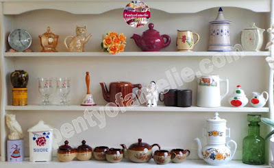 About Retro Vintage French Breakfast Tableware Set ; Teapots, Coffee Pots, Canisters, Sugar Cream Bowls, Coffee and Tea cups and saucers