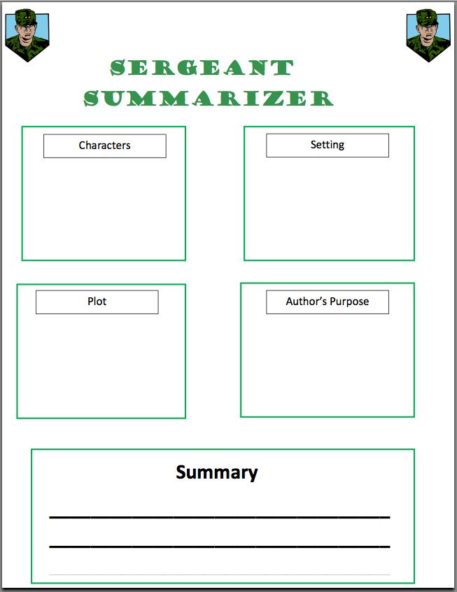 how to write a summary 4th grade