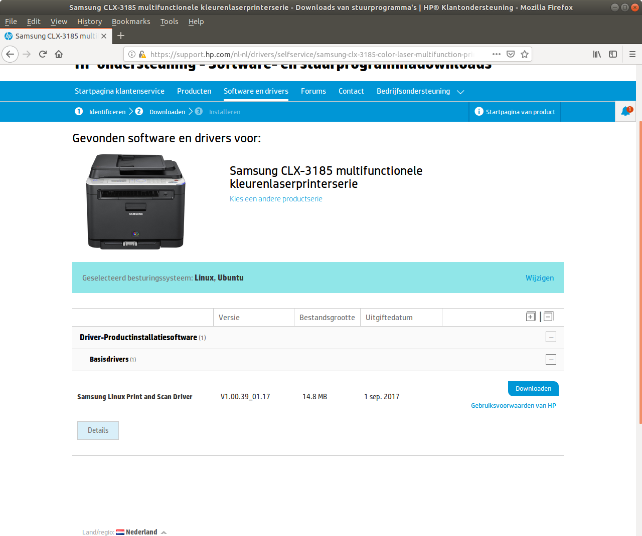 How to install a samsung CLX3185 printer/scanner in Linux