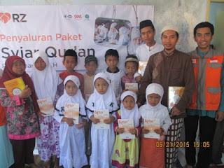 RZ Cilegon Salurkan 40 Paket Syiar Qur'an ke Majlis Taklim dan Pondok Pesantren