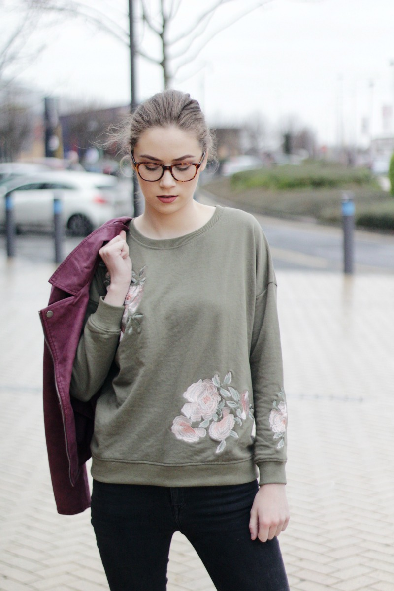 How to style an embroidered jumper