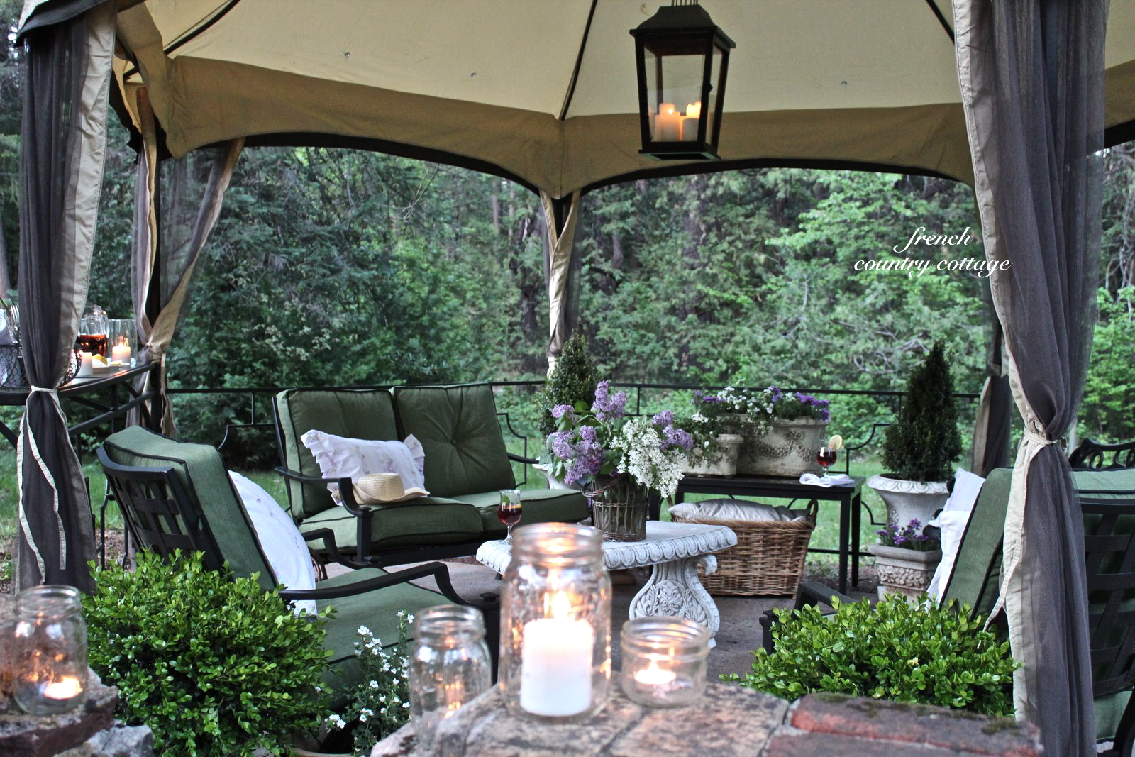 English Garden Inspired Patio Makeover with Kmart  FRENCH