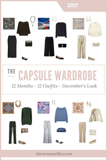 Build a Capsule Wardrobe in 12 Months, 12 Outfits - December 2017