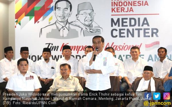 Ini Alasan Erick Thohir Mau Pimpin TKN Jokowi