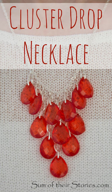 Make your own cluster drop necklace