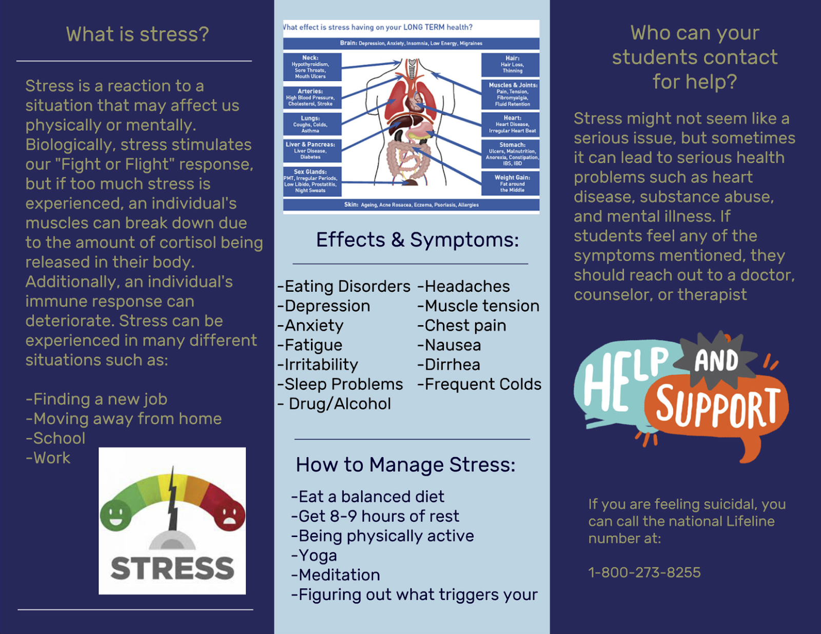 how to reduce stress among student How to cope with stress stress is a common problem among students in malaysia, it is stressful for the students because the education system is exam-oriented and each student has to study at least nine subjects for the malaysia education certificate.