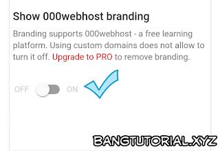 Nonaktifkan Banner Watermark 000webhost