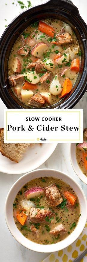 Slow Cooker Pork & Cider Stew
