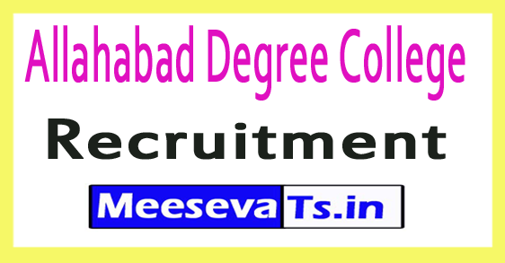 Allahabad Degree College Recruitment