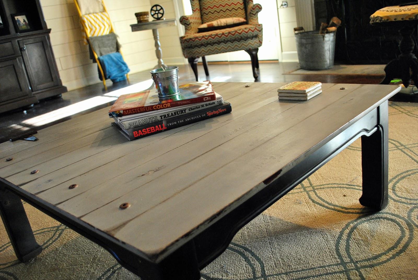 Fantastic Amazing Grays: Industrial, Aged Coffee Table ReDo JC29