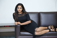Telugu Actress Karunya Chowdary Latest Stills in Black Short Dress at Edo Prema Lokam Audio Launch .COM 0124.JPG