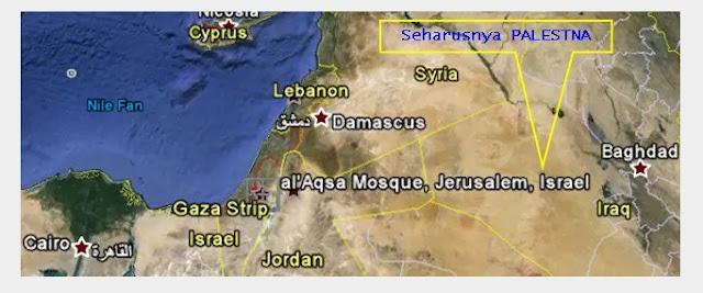 Peta Palestina Sudah Hapus Google Maps Di Gantikan Israel