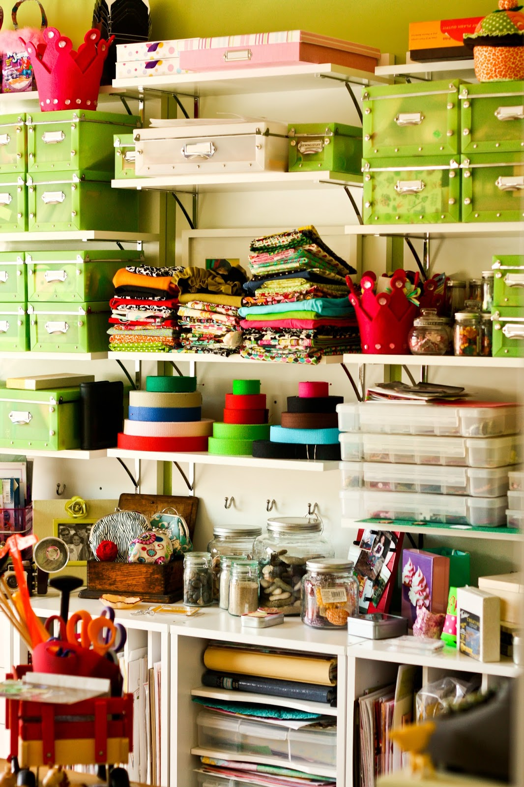 Picture of a bright and cheerful craft room