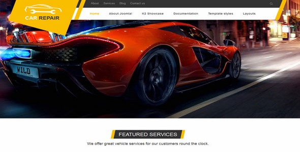 VT CarRepair – Joomla Templates 2.5 and 3.x