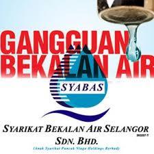 Jadual Gangguan Bekalan Air Syabas