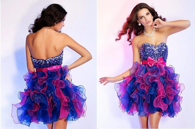 modelo de vestido de debutante curto