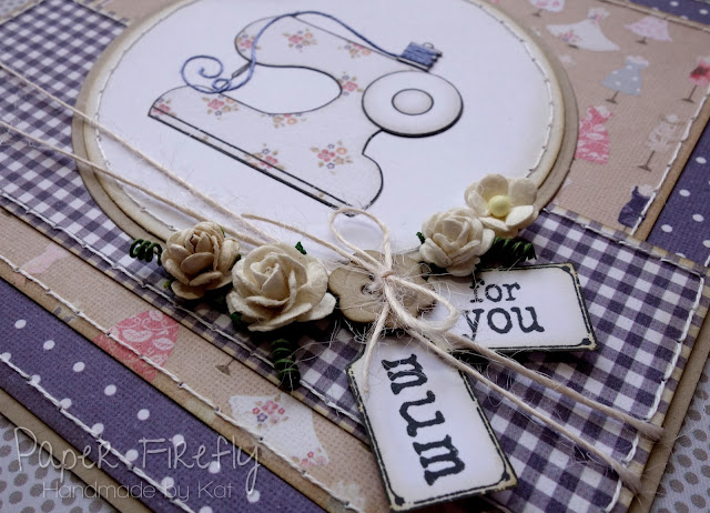 Handmade card for Mum featuring sewing machine