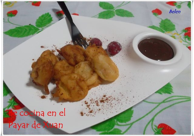 Plátanos Fritos Con Salsa De Chocolate