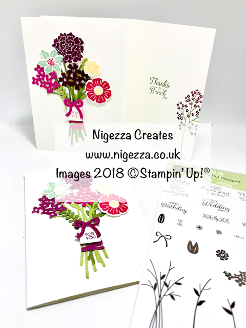 Customer Thank You Cards using Stampin' Up! Beautiful Bouquet Nigezza Creates