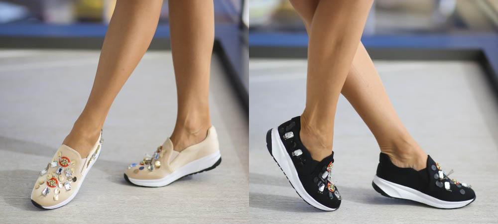 Pantofi sport femei comozi de calitate ieftinei negri, bej online