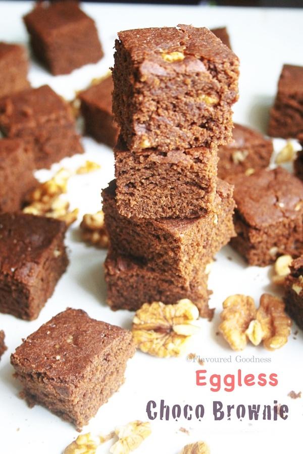 how to make Eggless Choco Brownie