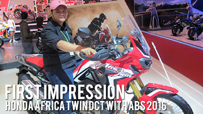 [VIDEO] First Impression Honda Africa Twin DCT 2016 Indonesia