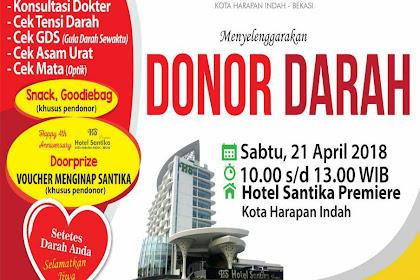 DONOR DARAH RS CITRA HARAPAN di Hotel Santika Premiere Kota Harapan Indah