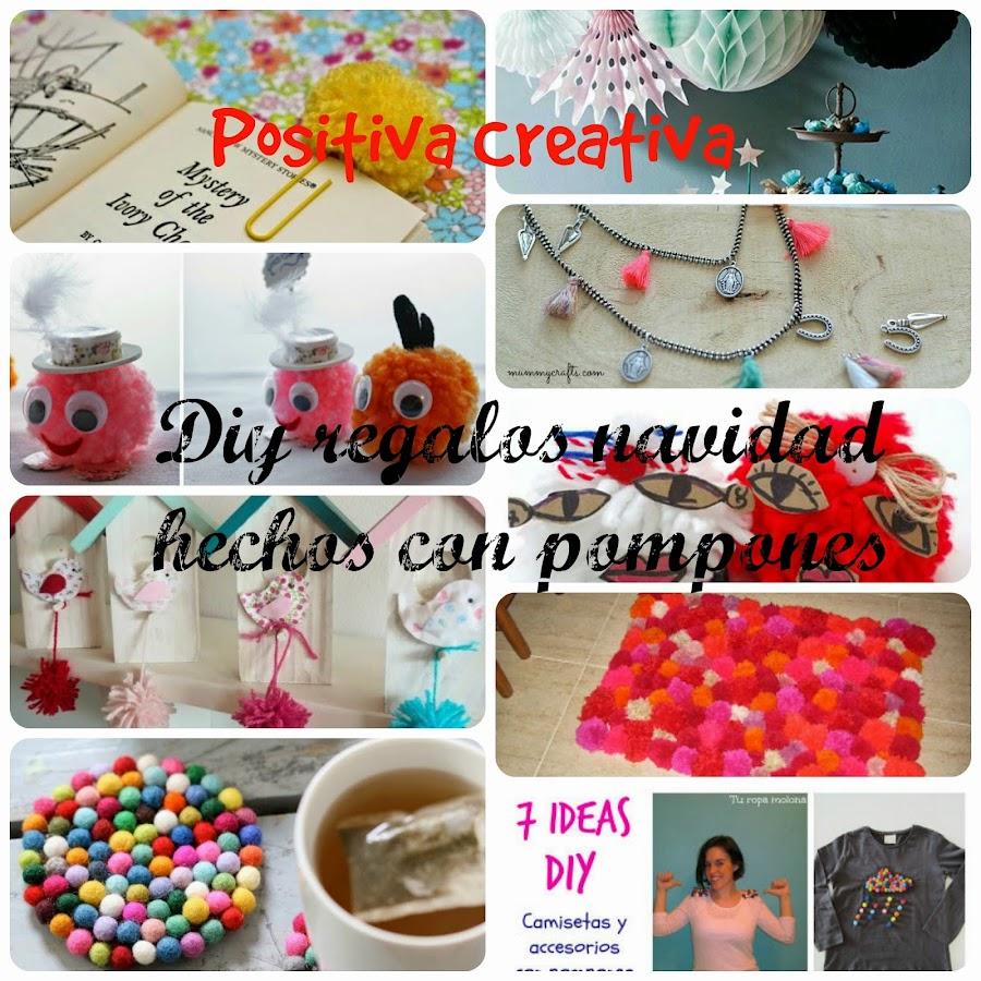 Diy regalos navidad con pompones manualidades for Cosas originales para regalar
