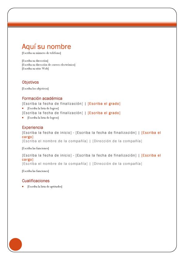 Formato De Curriculum Vitae Basico Sin Llenar Your Resume Industry