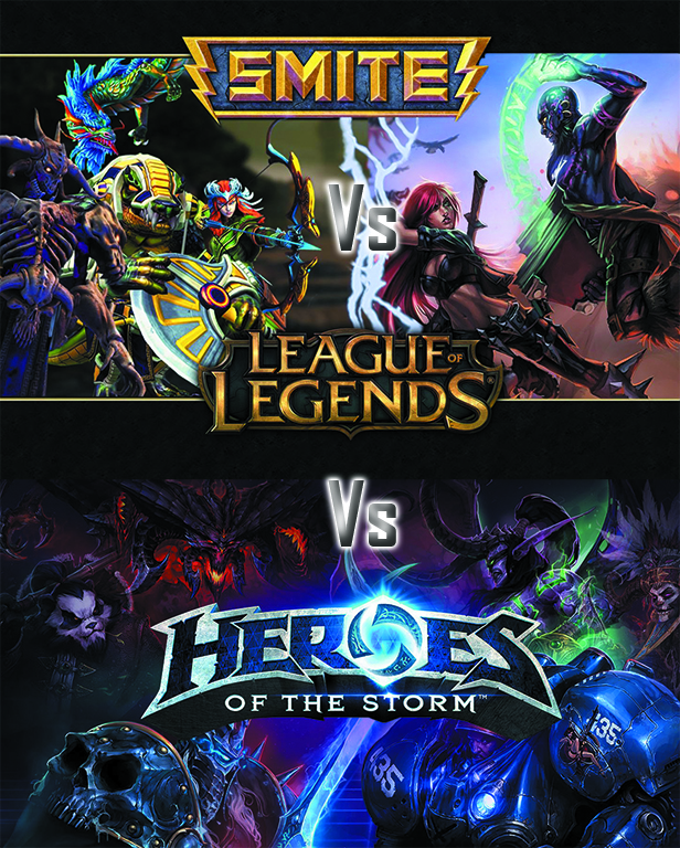 Que diferencias hay entre ``Smite vs League of legends vs Heroes of the storm´´