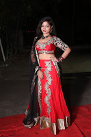 Sirisha Dasari in Red Ghagra Backless Choli ~  029.JPG