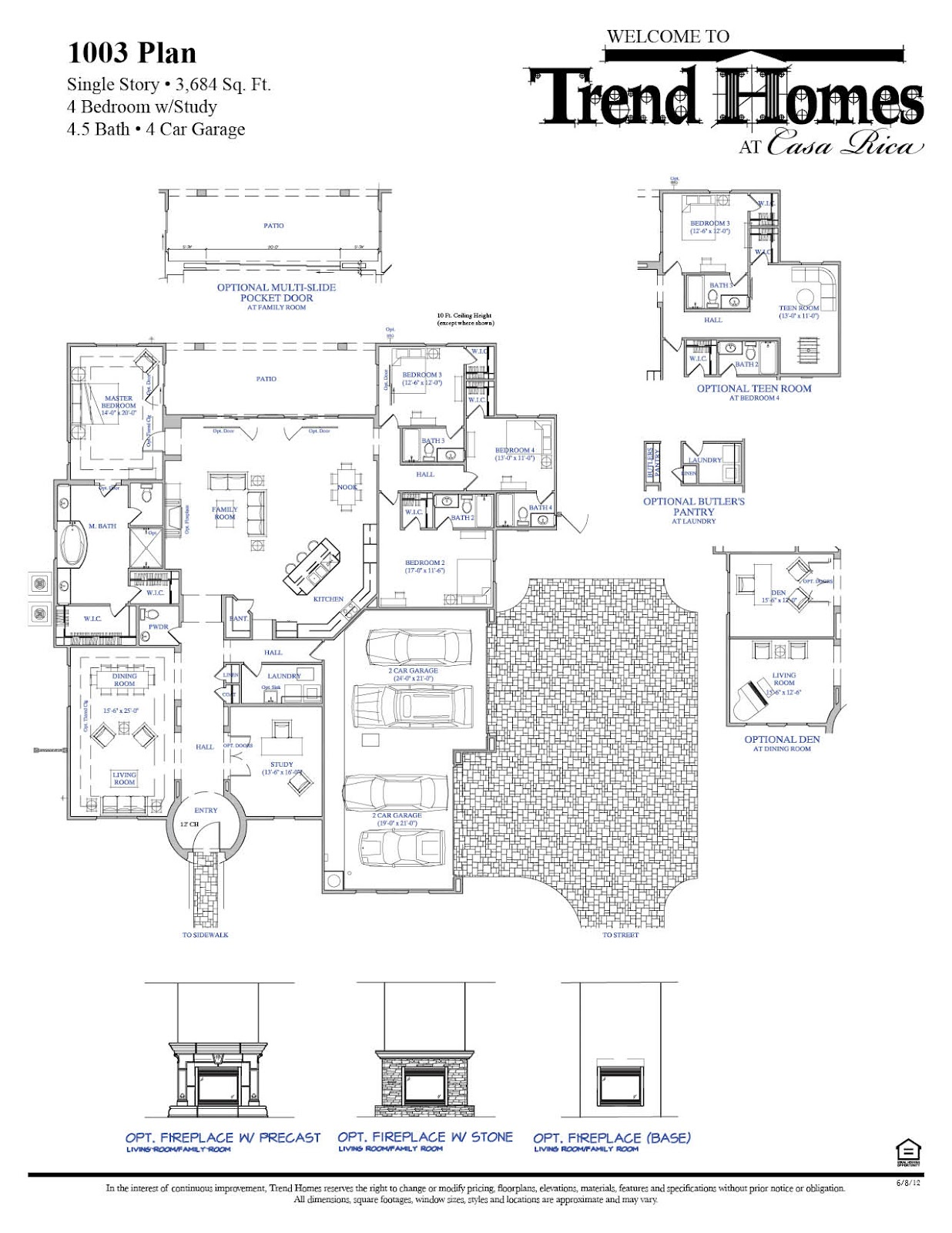 Homes For Sale at Casa Rica in Gilbert – Trend Homes Floor Plans Az