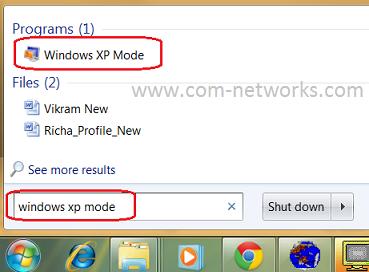 Use Windows XP Mode in Windows 7