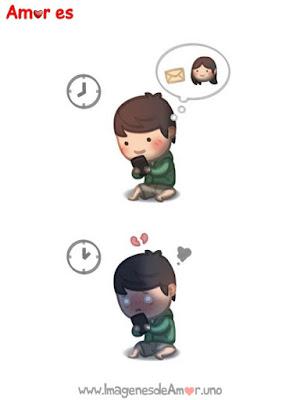 Ilustraciones bonitas mensajes movil