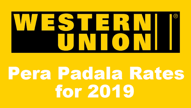 Western Union Rates for Domestic and Overseas 2019