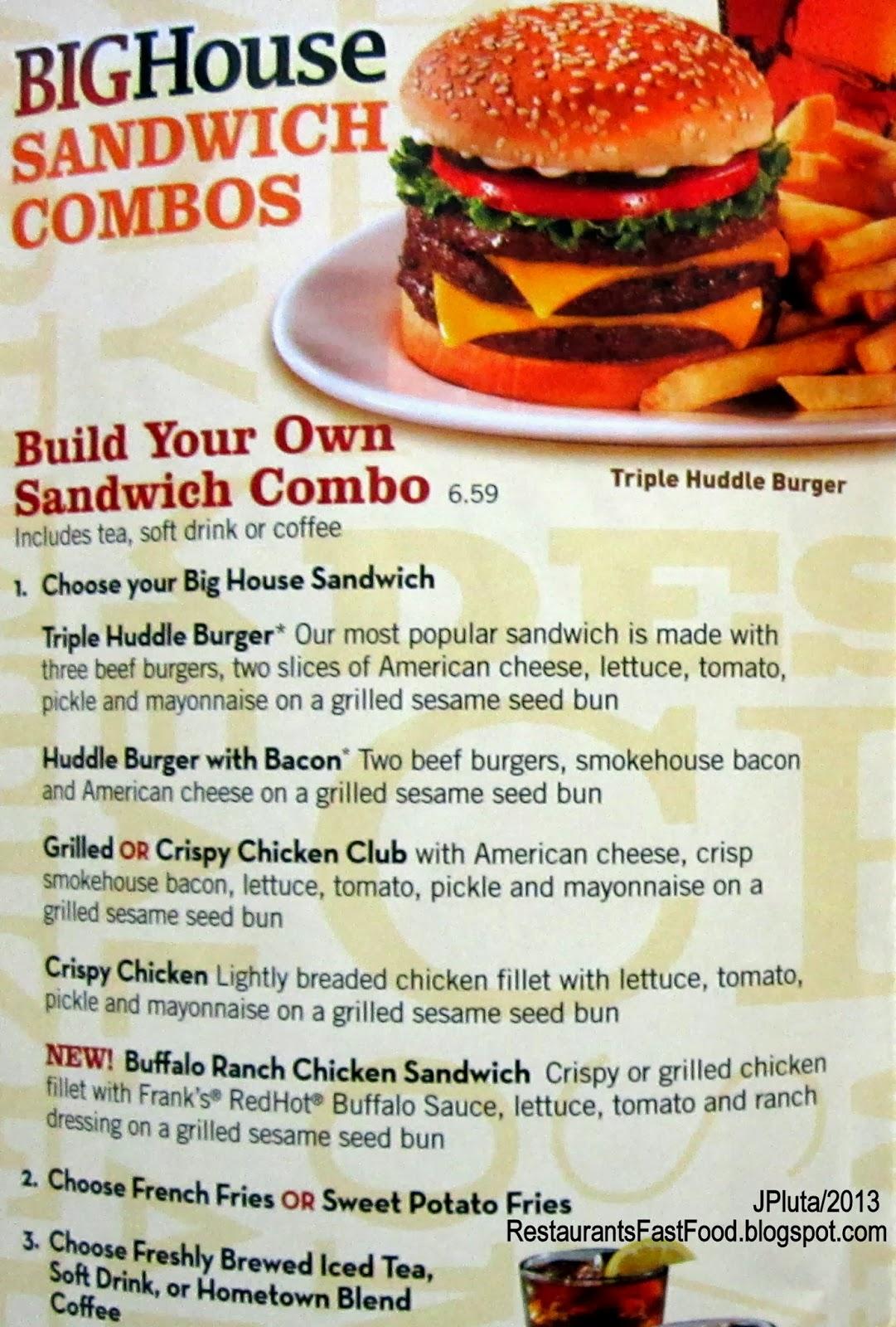 Restaurant fast food menu mcdonald 39 s dq bk hamburger pizza for Big fish restaurant menu