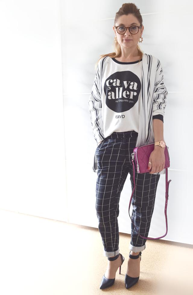 Print Sweater Musterhose Streifen Blazer