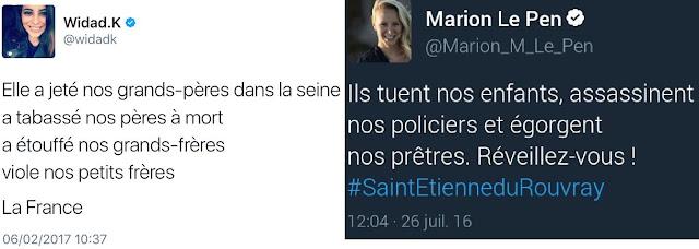 Une des similitudes parmi d'autres entre Widad Kefti et Marion Maréchal Le Pen